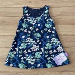Kleidchen Denim Flowers